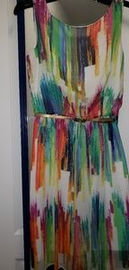 Ronni Nicole multicolored dress sz 8